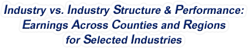 Massachusetts - Industry vs. Industry Structure & Performance: Employment Across Counties and Regions for Selected Industries